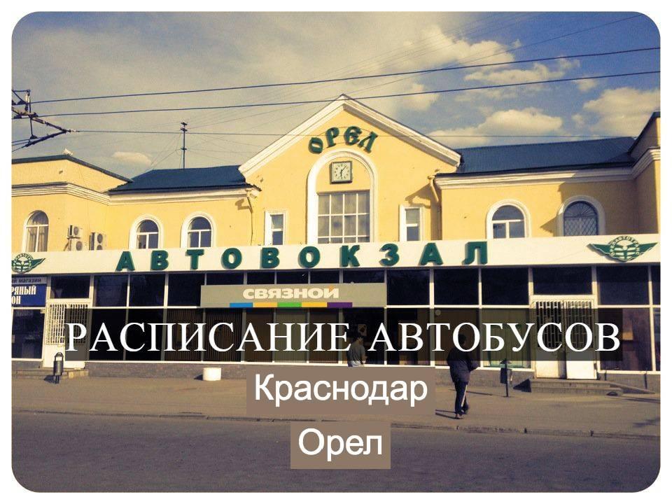 Автобус Краснодар — Орел